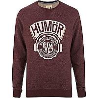 Dark red Humor logo sweatshirt
