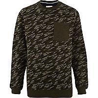 Khaki Humor camo print sweatshirt