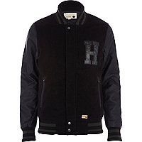 Black Humor borg hood casual jacket