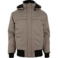 Grey Humor padded casual jacket