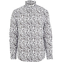 White mirror print shirt
