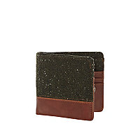Khaki neppy colour block wallet