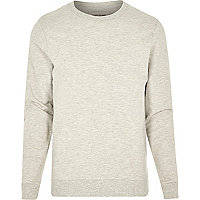 Ecru blank long sleeve sweatshirt