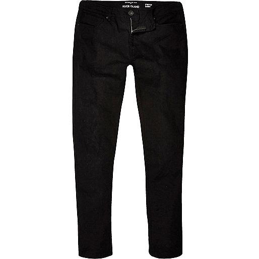 Sid – Skinny Stretch Jeans in Schwarz