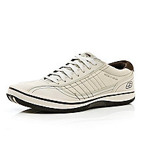 Ecru Skechers lace up trainers