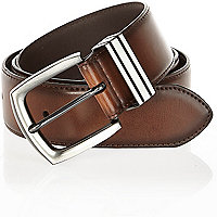 Brown triple keeper belt