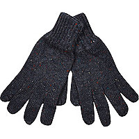 Dark blue neppy gloves