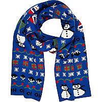 Blue Christmas scarf
