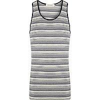 White stripe vest