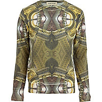 Green baroque ceiling print sweatshirt