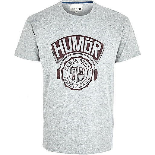 Grey Humor graphic print t-shirt