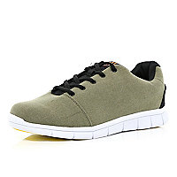 Khaki green Oill chunky sole trainers