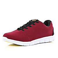Dark red Oill chunky sole trainers