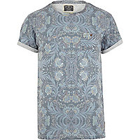 Blue Holloway Road floral print t-shirt