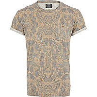 Yellow Holloway Road neppy floral t-shirt