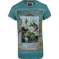Green Holloway Road oil wash photo t-shirt