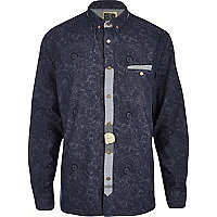 Blue Holloway Road paisley shirt