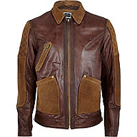 Dark red Holloway Road leather jacket