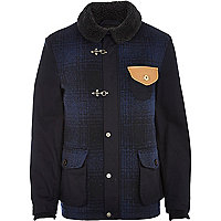 Navy check Holloway Road jacket