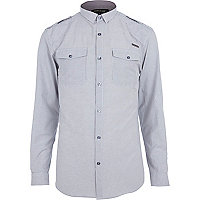 White stripe military shirt