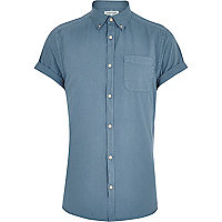 Teal short sleeve Oxford shirt