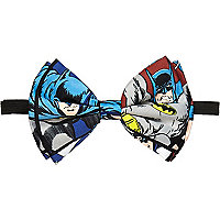 Blue Batman comic print bow tie