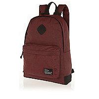 Red zebra print backpack
