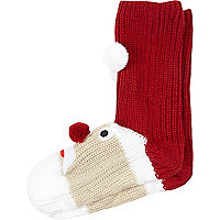 Red Father Christmas slipper socks