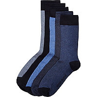 Navy blue ankle socks pack