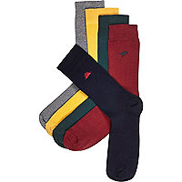 Navy dinosaur ankle socks pack