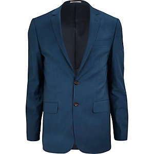Teal skinny suit jacket