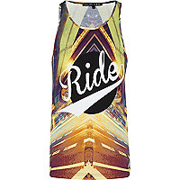 Grey Delta Tribe ride print vest