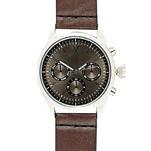 Dark brown watch
