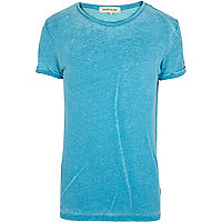 Blue burnout t-shirt