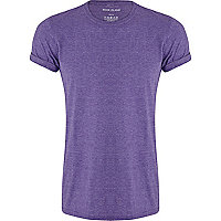 Purple marl crew neck t-shirt