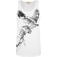 White bird smoke print vest