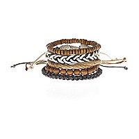 Light brown mixed bracelet pack