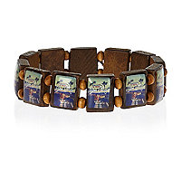 Brown Sin City tile bracelet