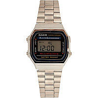 Grey metal Casio bracelet digital watch