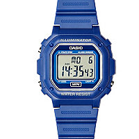 Blue Casio digital watch