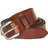 Brown Italian leather belt