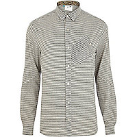 Grey stripe Boxfresh long sleeve shirt