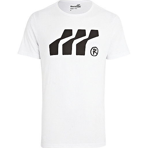 White Boxfresh logo graphic print t-shirt