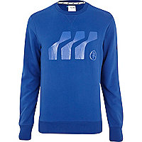 Blue Boxfresh graphic print sweatshirt