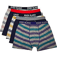 Mixed stripe print boxer shorts pack