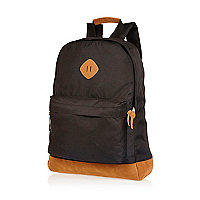 Black canvas rucksack
