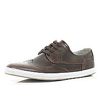 Brown brogue trainers