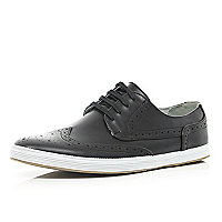 Black brogue trainers