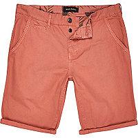 Pink chino shorts