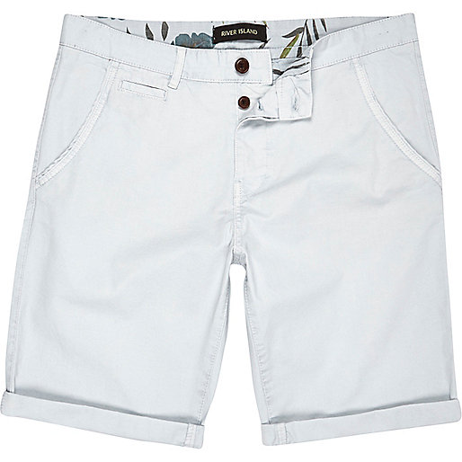 Pale blue chino shorts